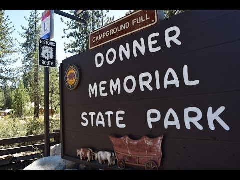 Gypsy Lynn visiting ancestors at Donner Memorial State Park, Truckee, California