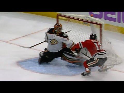 Gotta See It: Blackhawks' DeBrincat lights up Ducks for first career hat trick