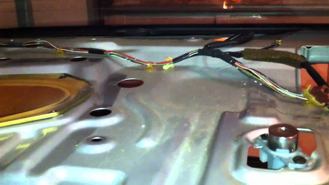 1998 Civic Rear Speaker Replacement 4door Lx Part 2 Youtube 98 Honda Electrical Wiring