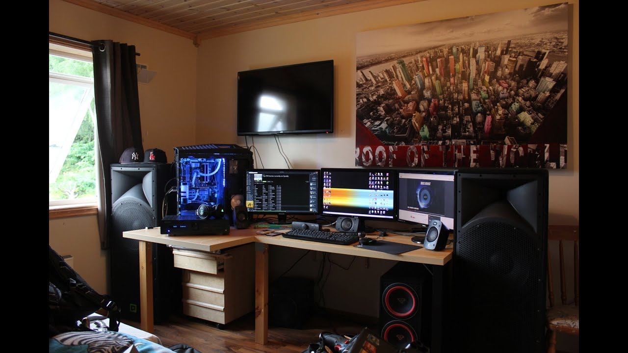 My ultimate gaming setup room tour 2014 v2 youtube How to make a gaming setup in your room