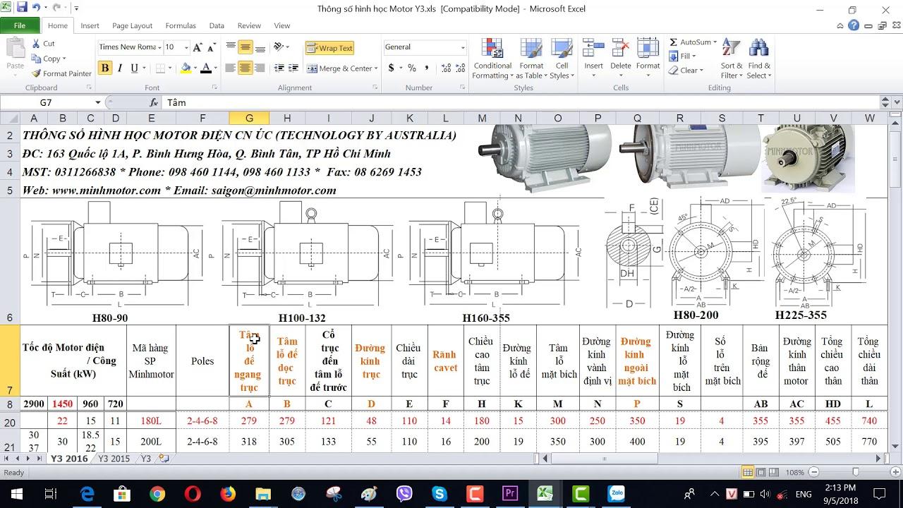 Bản vẽ kỹ thuật động cơ điện 22 kw 30 HP 1400-1500 vòng phút, MINHMOTOR 0968140191.