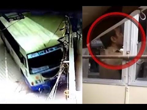 Amreli : ST Bus Accident With Shop During Talk On Mobile, Wa