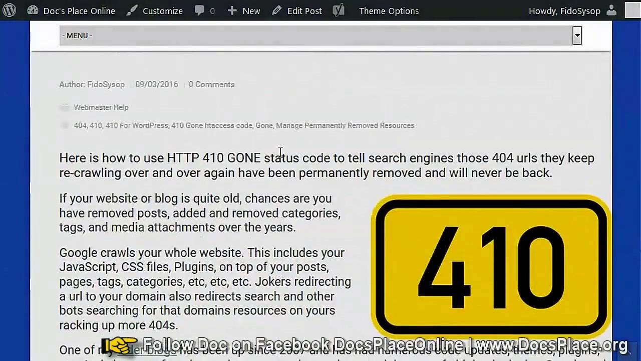 410 Gone HTTP Status Stop Bots Re-crawling Dead Urls - YouTube