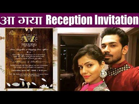 Rubina Dilaik - Abhinav Shukla Wedding: Here's the RECEPTION CARD; check out । FilmiBeat