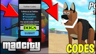 POLICE DOGS UPDATE + 7 NEW CODES MAD CITY! (Roblox)