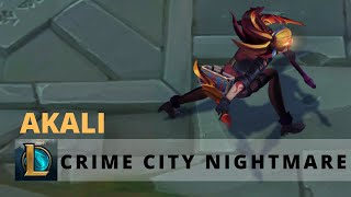 Crime city nightmare Akali Ruby Chroma - League of Legends