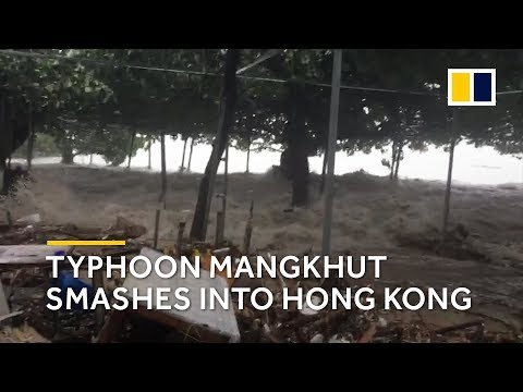 What happened when Typhoon Mangkhut smashed into Hong Kong