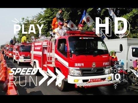 Pawai Mobil Pemadam Kebakaran (Damkar) ~ Fire trucks Firefighter parade @Solo Central Java Indonesia