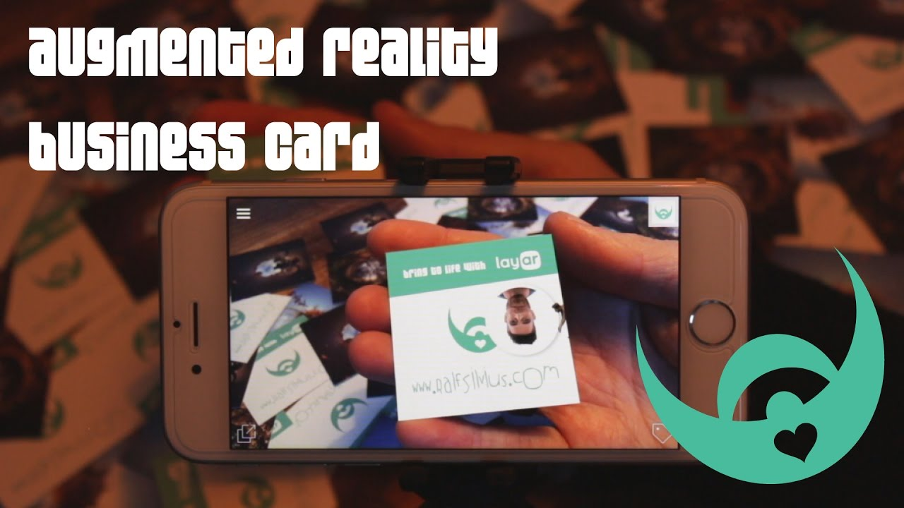 Augmented Reality (AR) business card - YouTube