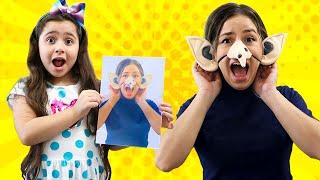 Heloísa e Mamãe brincam com fotos engraçadas ♥ play with funny photos