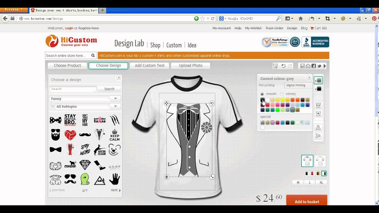 Design your t shirt online