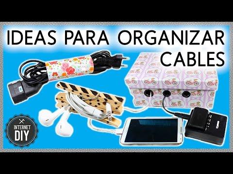 IDEAS fáciles para ORGANIZAR CABLES 🔌 Ideas útiles en Internet DIY