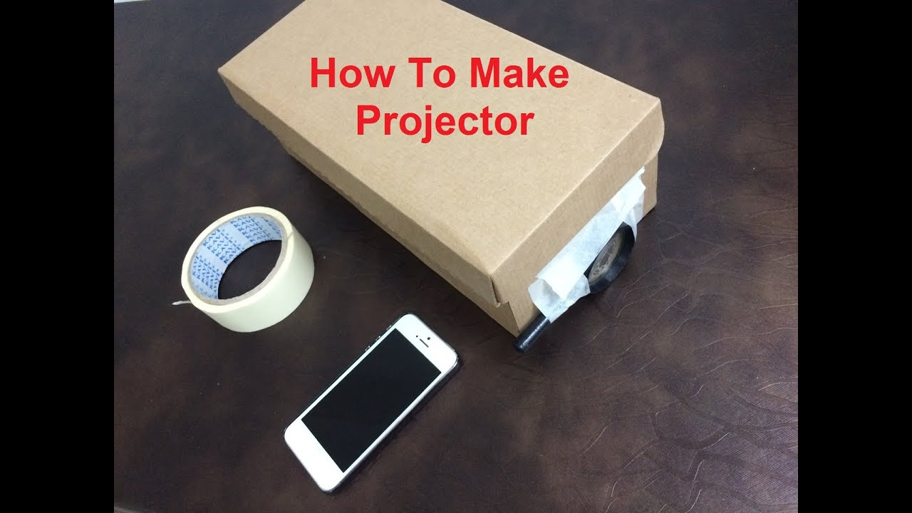 how to make projector at home youtube