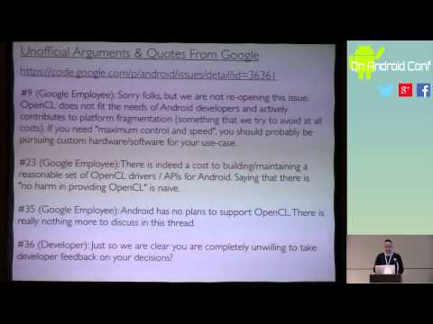 "OnAndroidConf: Michael Leahy ""OpenCL: An Introduction To Cross-Platform Computation"""