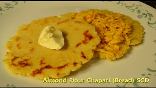 almond flour chapati or indian bread scd gluten free low carb grain free