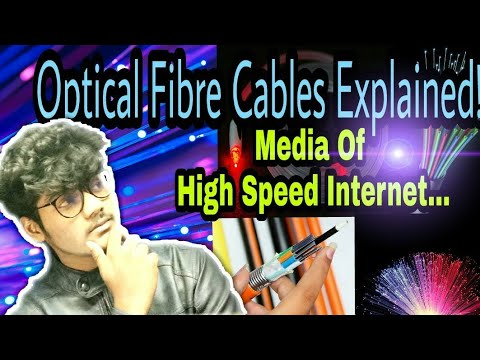 Optical fibre cables explained!!! || media of High speed internet || Hindi ||The Sky