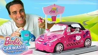Barbie Car Wash Design Studio ! || Toy Unboxing || Konas2002