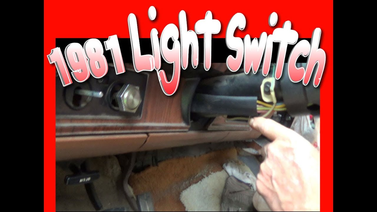 small resolution of removing and installing light switch on a 1981 f150 ford truck