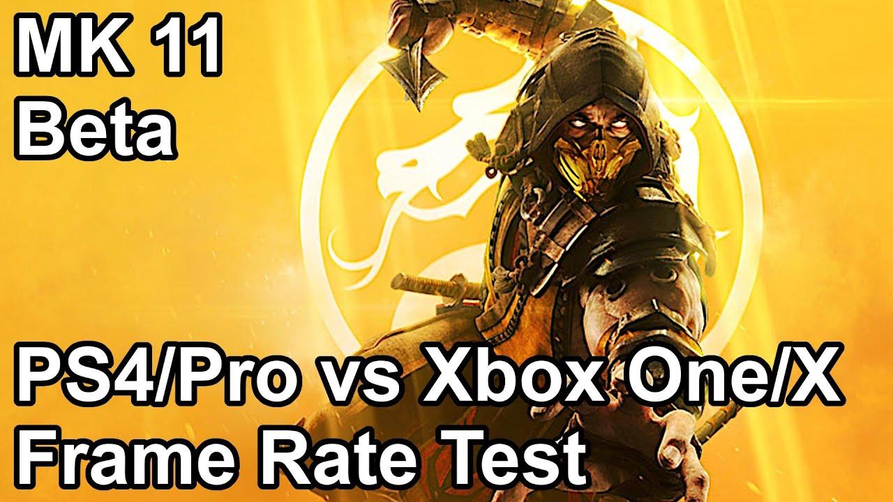 Mortal Kombat 11 Frame Rate Comparison PS4 Pro vs Xbox One X vs PS4 vs Xbox  One (Beta)