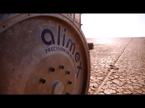 Testing 1,000 mph wheels on the desert racetrack, South Africa