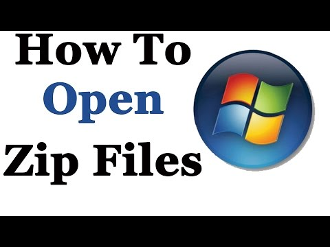How To Open Zip Files In Windows 7 & 8