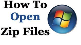 How to Open / Extract zip File - Beginner Tutorial