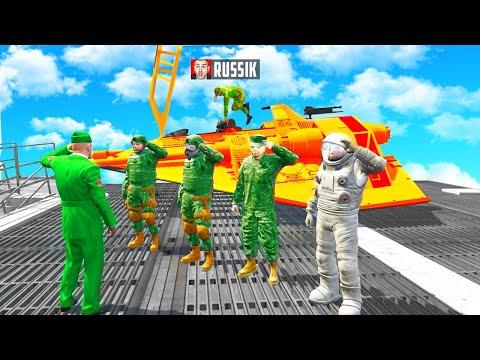 MILITÄR LUXUS JET klauen als FAKE SOLDAT in GTA 5 RP!