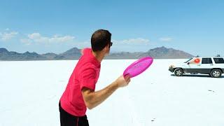 Frisbee vs. Bow and Arrow Battle  Brodie Smith vs. Tom Brodie