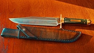 Wolf Borger Sheffield Style Bowie Knife custom german maker Deutsche Messermacher Gilde Detail-Movie