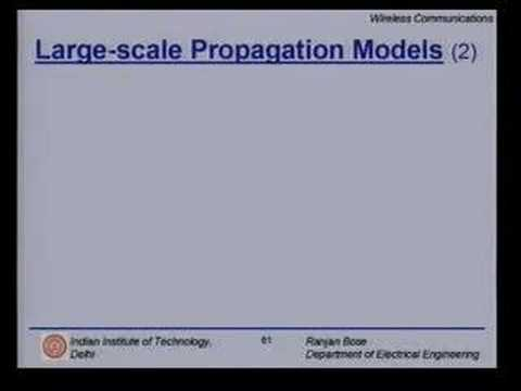 Lecture 10 - Mobile Radio Propagation Contd