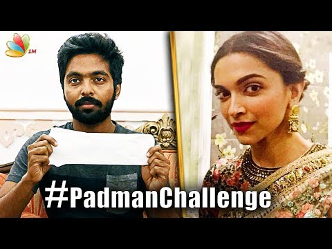 Celebrities take up the Padman Challenge, would you do it too? | G.V. Prakash
