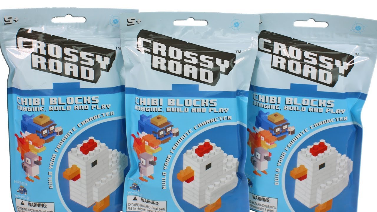 5 BLIND BAGS CHIBI BLOCKS DISNEY HANGER FIGURE CLIP NEW CROSSY ROAD LOT OF