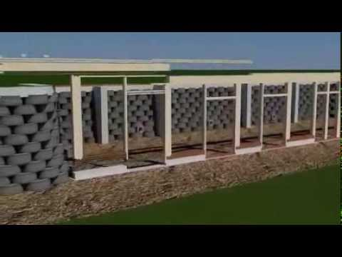 le earthship l 39 ultime maison colo autonome plan en 3d youtube. Black Bedroom Furniture Sets. Home Design Ideas
