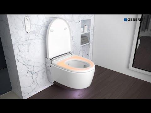 geberit aquaclean mera comfort set up youtube. Black Bedroom Furniture Sets. Home Design Ideas