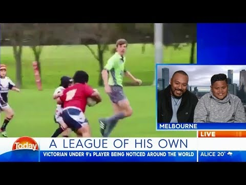 The 'little beast' gives adorably shy interview - Karl Stefanovic  