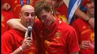 Show de Pepe Reina(Speaker)presenta 23  jugadores-ESPAÑA CAMPEÓN DEL MUNDO-HD
