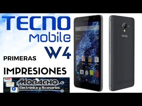 Tecno Mobile W4 Unboxing En Español