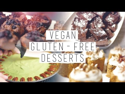 4 Gluten Free, Vegan, Healthy Desserts // Brownies, Carrot Cake etc. | chanelegance