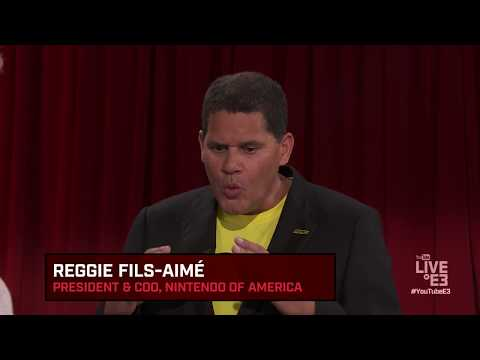 Reggie Fils-Aimé and Geoff Keighley play Nintendo Arms