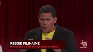 Reggie Fils-Aimé and Geoff Keighley play Nintendo Arms