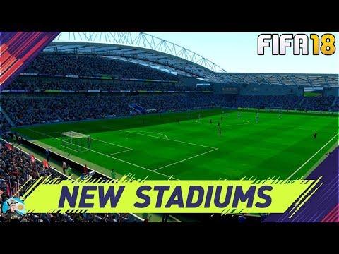 FIFA 18 NEW STADIUMS - Wanda Metropolitano - Amex Stadium and more!