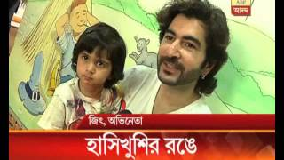 Jeet, Jishu spend a colourful morning alongwith their daughters.