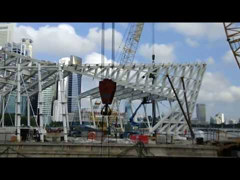 Pentruder 3P8 Wire Saw @ Singapore MBS underwater cutting