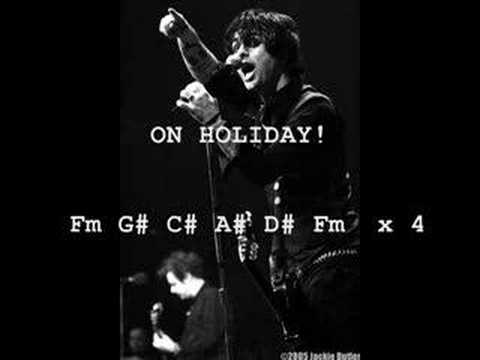 Green Day- Holiday karaoke with chords