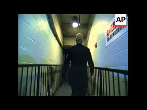 President Bill Clinton walks into the convention hall of the 2000 DNC Convention