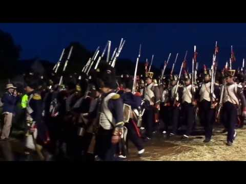 Waterloo 2015 June 20 2015 French Imperial Old Guard marching with band