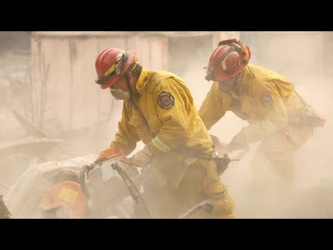 California wildfires: search for victims continues