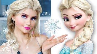 Повторяю макияж принцесс Диснея 👑 ЭЛЬЗА ХОЛОДНОЕ СЕРДЦЕ | Лисса