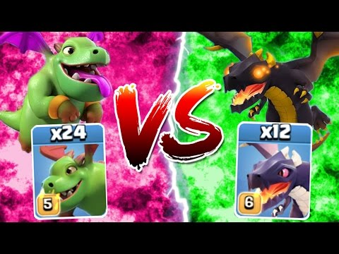 Clash Of Clans - NEW MAX LEVEL DRAGON vs BABY DRAGON! - BATTLE FOR THE SKY!