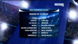 |HD| UEFA Champions League 2011/12 - Round Of 16 Draw